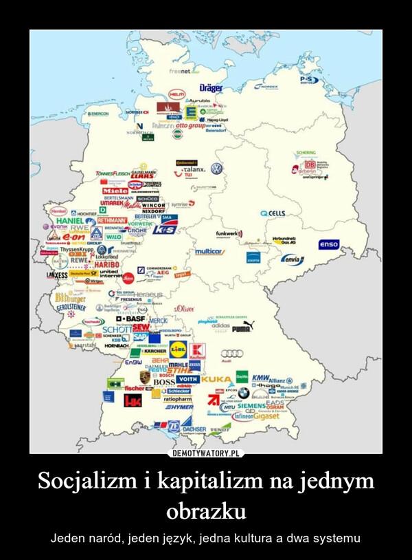 Socjalizm i kapitalizm na jednym obrazku – Jeden naród, jeden język, jedna kultura a dwa systemu