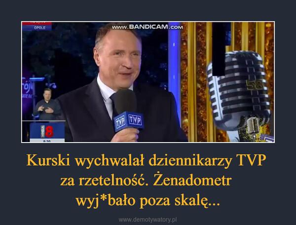 Kurski wychwalał dziennikarzy TVP za rzetelność. Żenadometr wyj*bało poza skalę... –