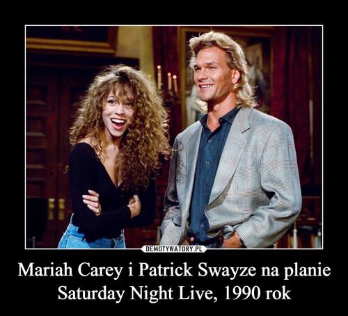 Mariah Carey i Patrick Swayze na planie Saturday Night Live, 1990 rok