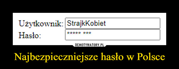 Najbezpieczniejsze hasło w Polsce –
