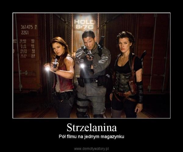 Strzelanina – Pół filmu na jednym magazynku
