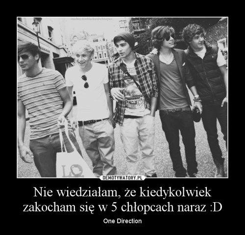 Nie wiedziałam, że kiedykolwiek zakocham się w 5 chłopcach naraz :D – One Direction