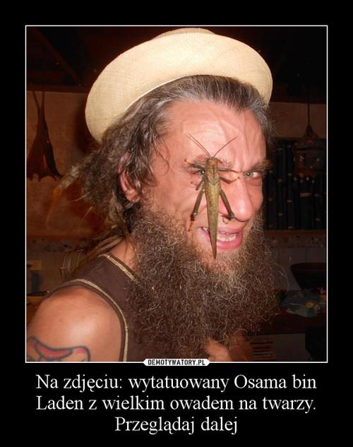Na zdjęciu: wytatuowany Osama bin Laden z wielkim owadem na twarzy. Przeglądaj dalej –