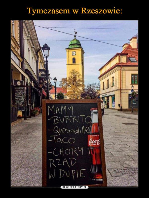 Tymczasem w Rzeszowie: